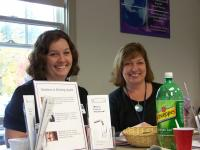 Erica and Nancy provide information about swallowing to nurses.
